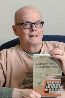 David Carpenter, with The Literary History of Saskatchewan. Photo: © Shelley Banks, all rights reserved.