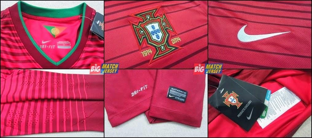 Detail Jersey Home Portugal  Man Piala Dunia 2014 Baju Pasangan - Baju couple Tanah Abang