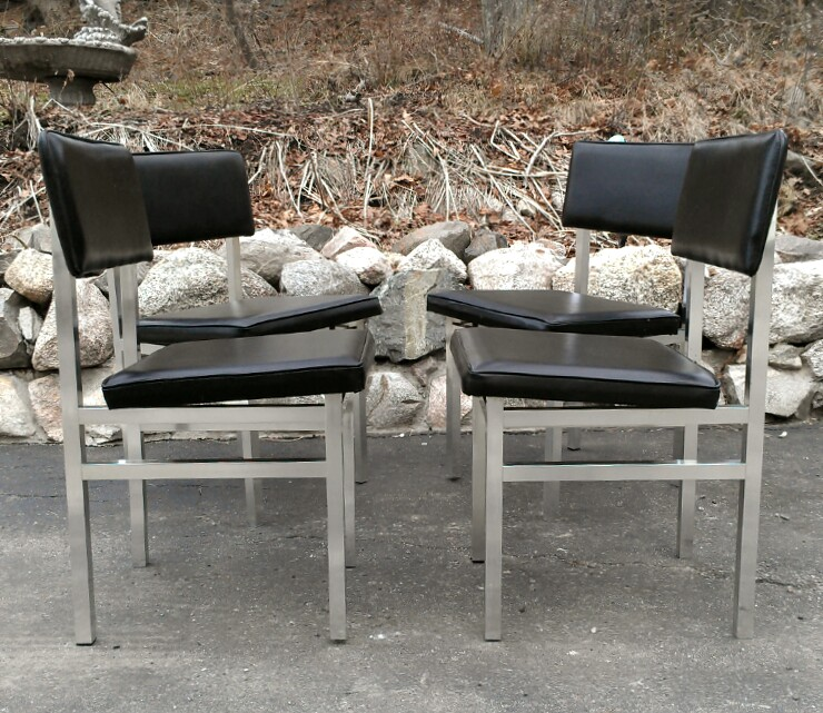 Mid Century Modern Aluminum Frame Dining Chairs 4 Available $40 Each   $40  (Peabody) Http://boston.craigslist.org/nos/fuo/2788443687.html