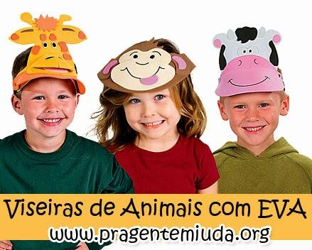 Viseiras de animais feitas com EVA