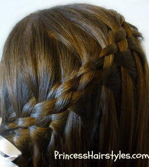 woven waterfall braid