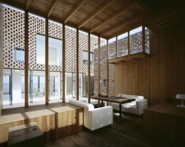 Modern design brick house in china brings an innovative - Modern chinese house design ...