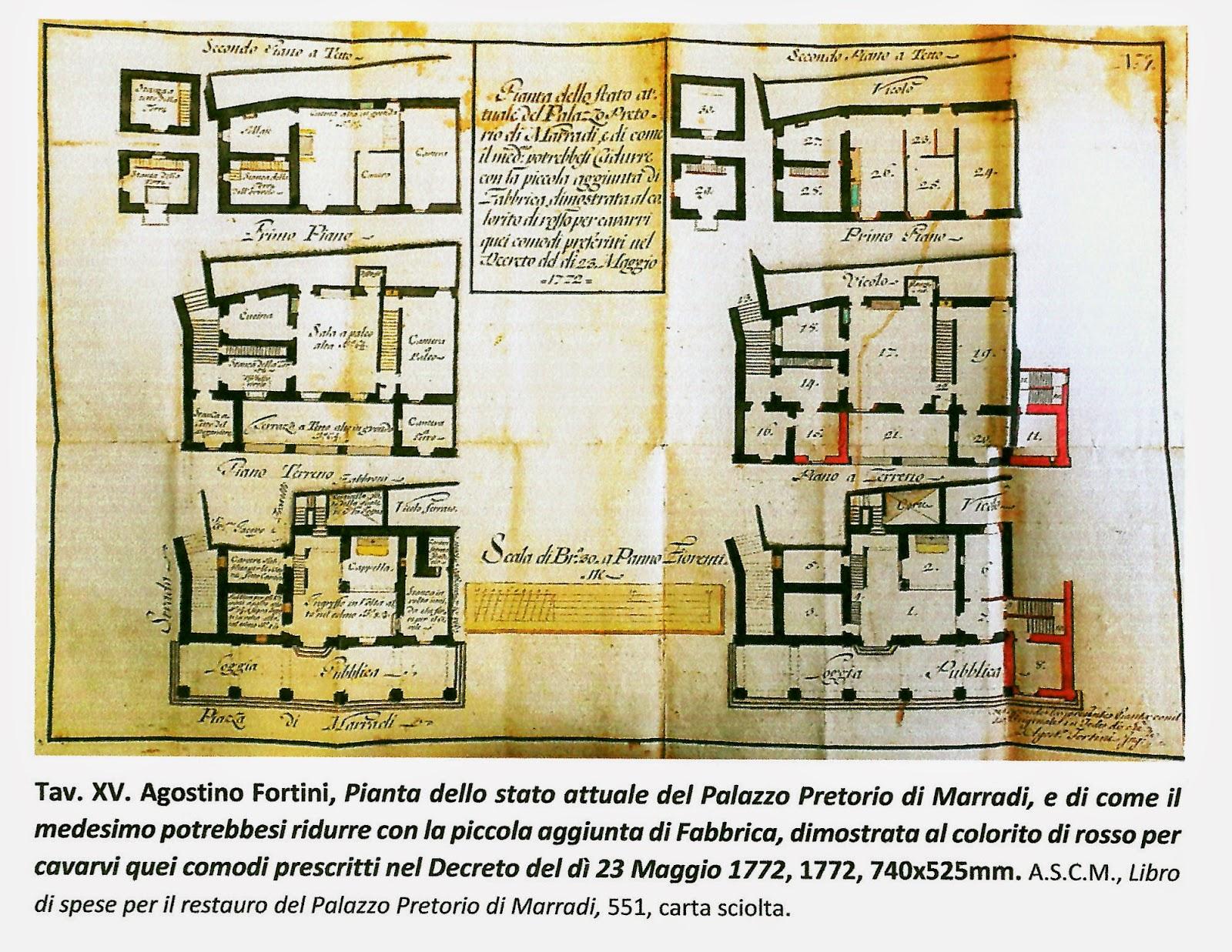 Il blog della biblioteca di marradi il palazzo pretorio for Planimetrie del cottage del cortile