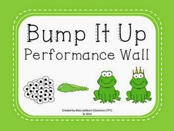 Frog-Themed Performance Wall - http://www.teacherspayteachers.com/Product/Bump-It-Up-Performance-Wall-Posters-Frogs-Theme-Green-Background-1417855