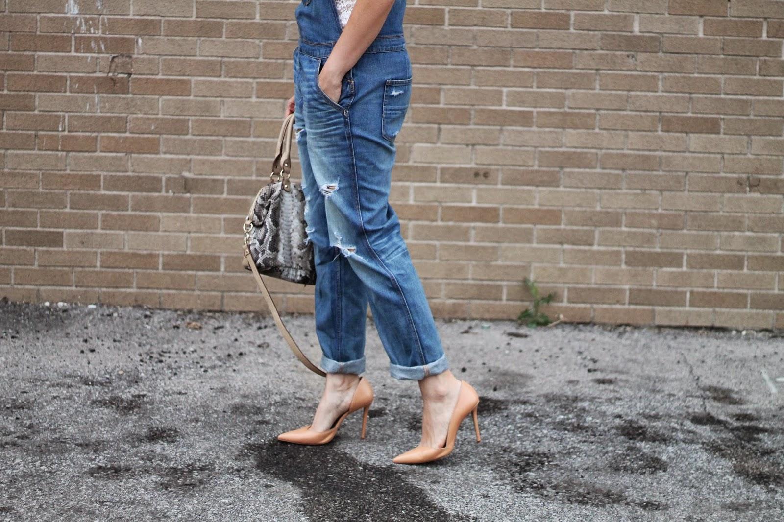 denim, overalls, nude, zara, heels