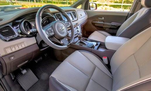2016 Kia Sedona minivan interior View