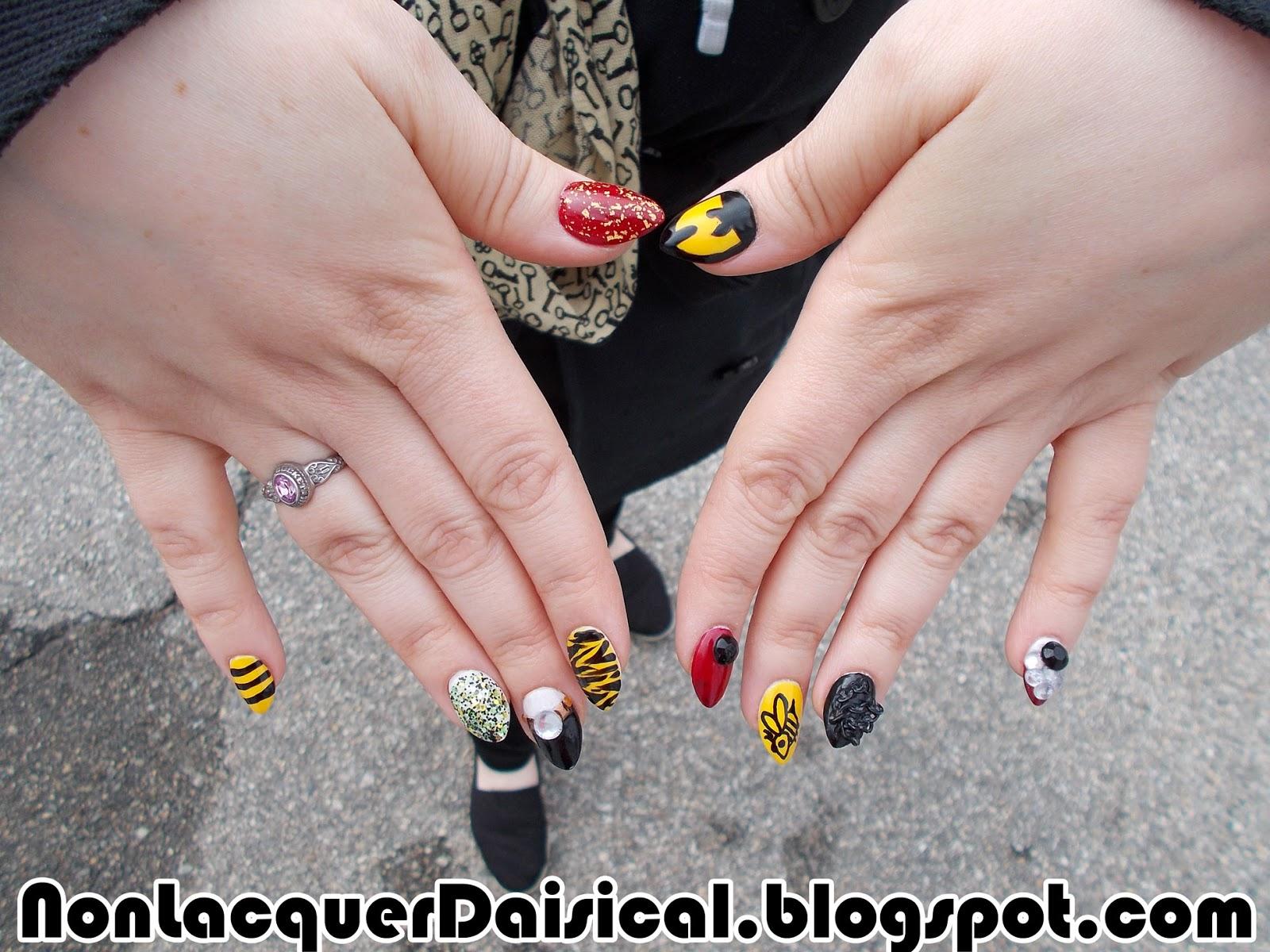 NonLacquerDaisical: Wu Tang Clan and H.P. Lovecraft nail sets