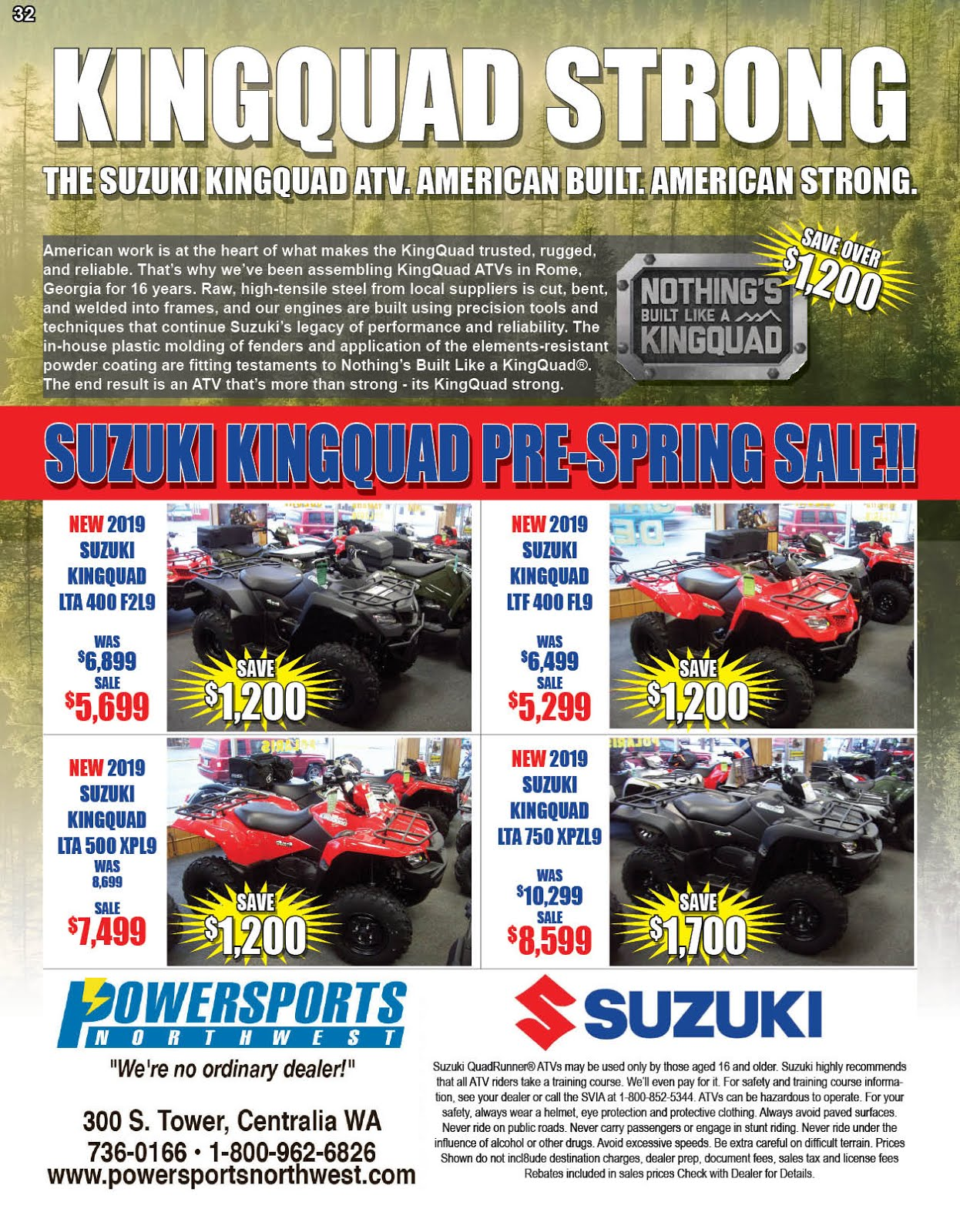 Powersports Northwest KingQuad Sale!!