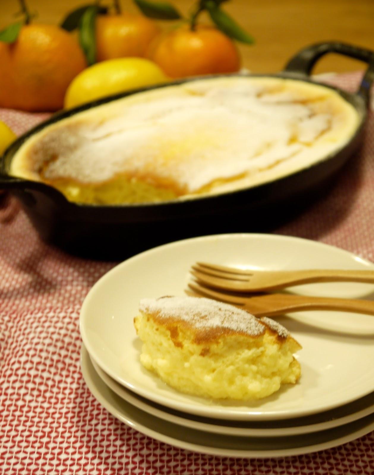 金黃軟嫩的檸檬布丁蛋糕