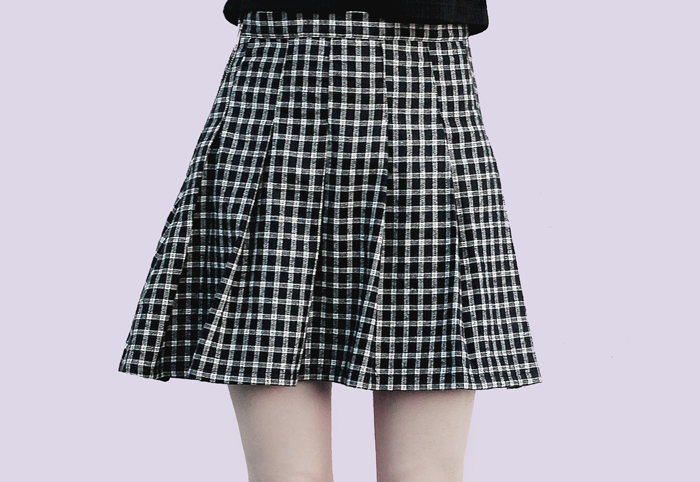pleated-skirt-handmade-online-store-grunge-90's-falda-tableada-tienda-online