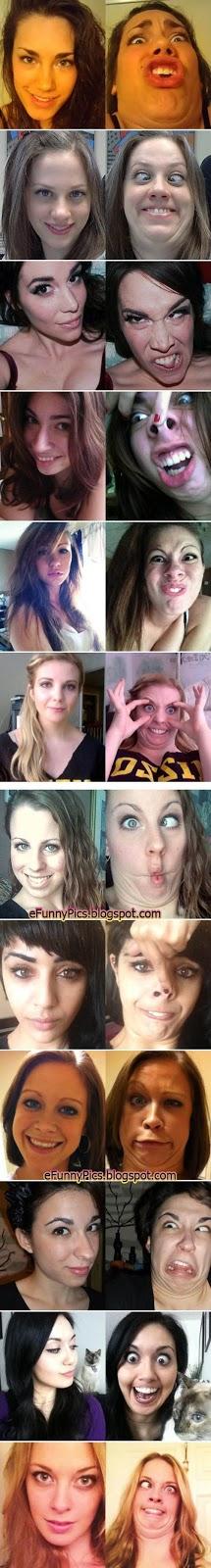 Pretty face vs. Grimace
