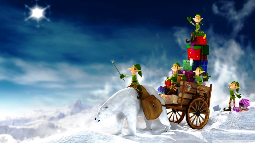 Christmas Elves HD Wallpaper