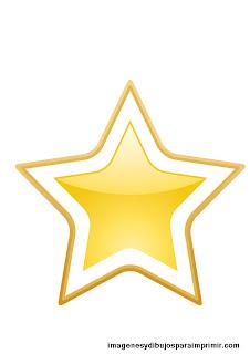 estrella blanca y dorada para imprimir