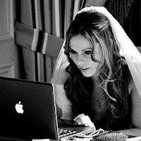 Bride at Computer