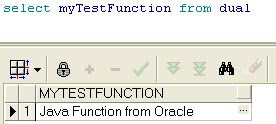 Test Java Stored Procedure / Function from Oracle SQL Query