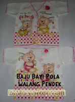 Baju bayi walang pendek