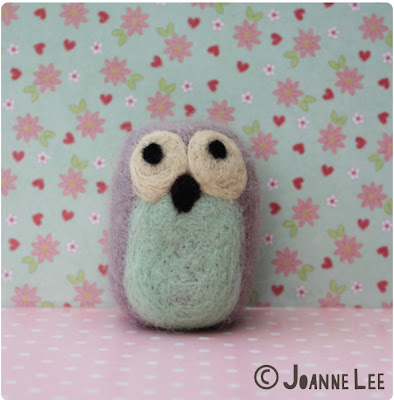 Needle felted Owl by Joanne Lee