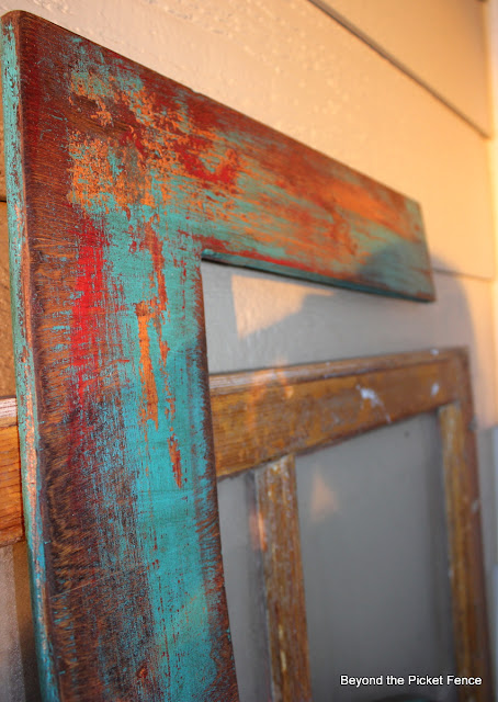 scrap wood #5 fun paint technique http://bec4-beyondthepicketfence.blogspot.com/2012/07/playing-by-numbers.html
