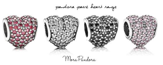 Pandora Black Hearts Charm