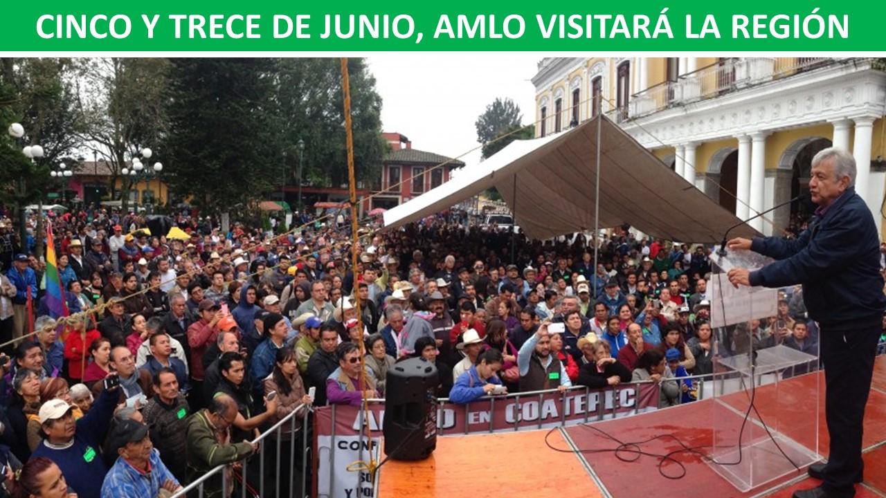 AMLO VISITARÁ LA REGIÓN