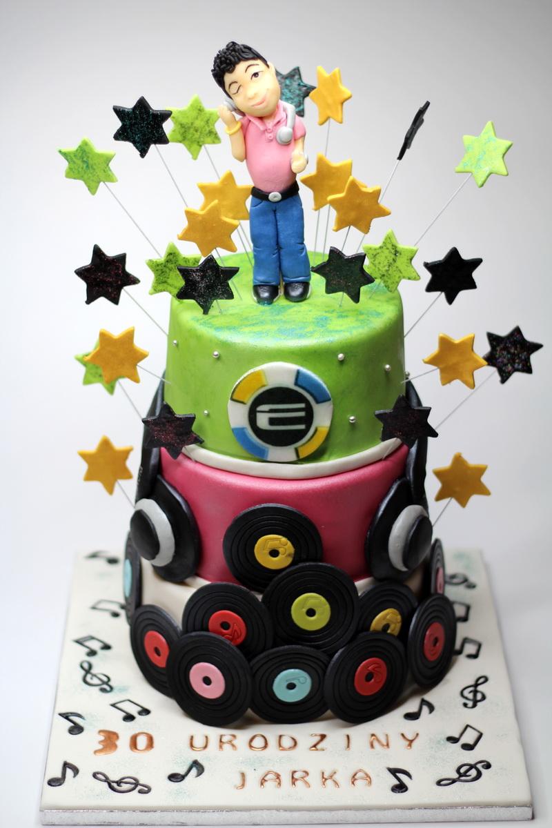 London Patisserie Birthday Cake For Dj In London