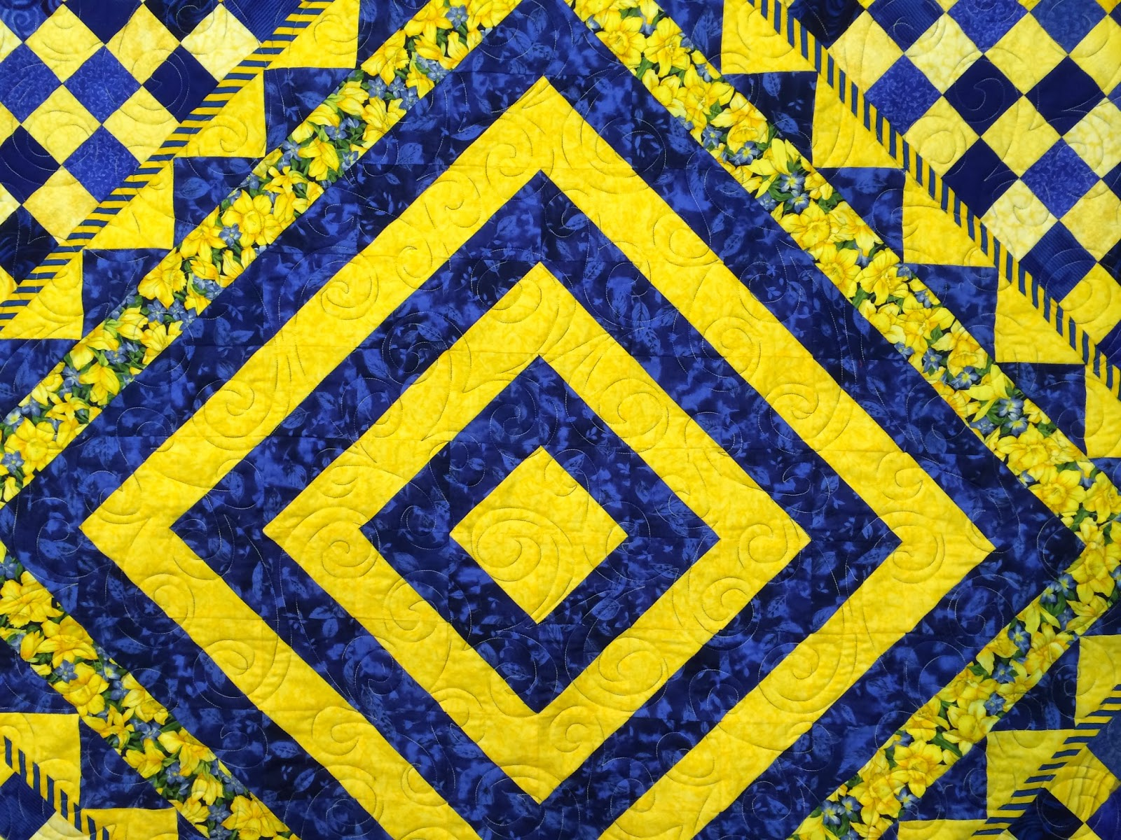Peggy Krebs's Yellow and Blue Quilt