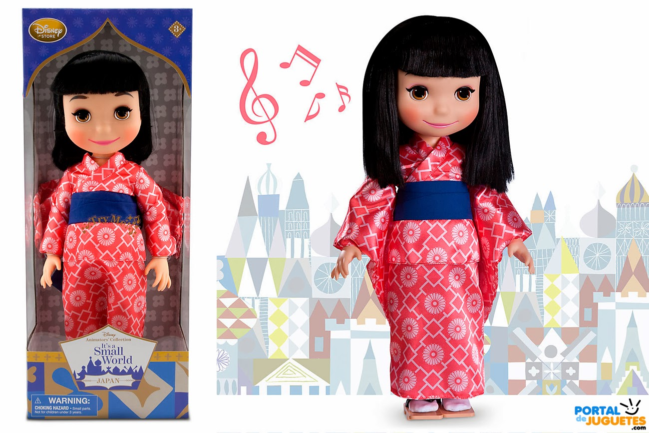 muñeca japon its a small world disney animators