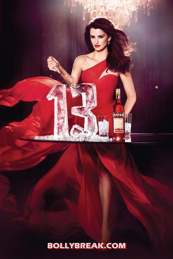 Penelope Cruz for Campari - Penelope Cruz sexy Campari Calendar
