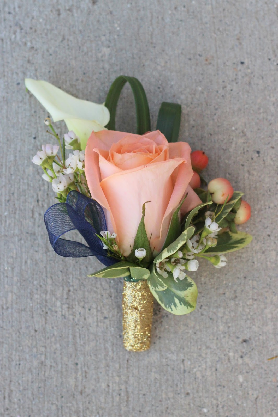 Peach Garden Rose Boutonniere celebration flair: peach and pink and coral oh my! lindsay + andrew