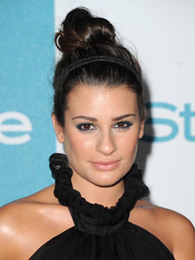 Lea Michele Fresh Brunette Hairstyles