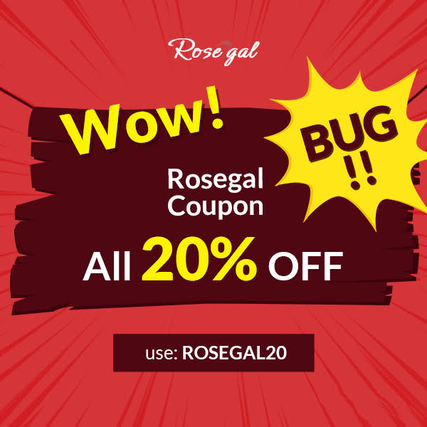 Скидка 20%  Black Friday ROSEGAL