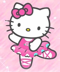 Gambar Hello Kitty Terbaru Menari Balet Animasi Bergerak