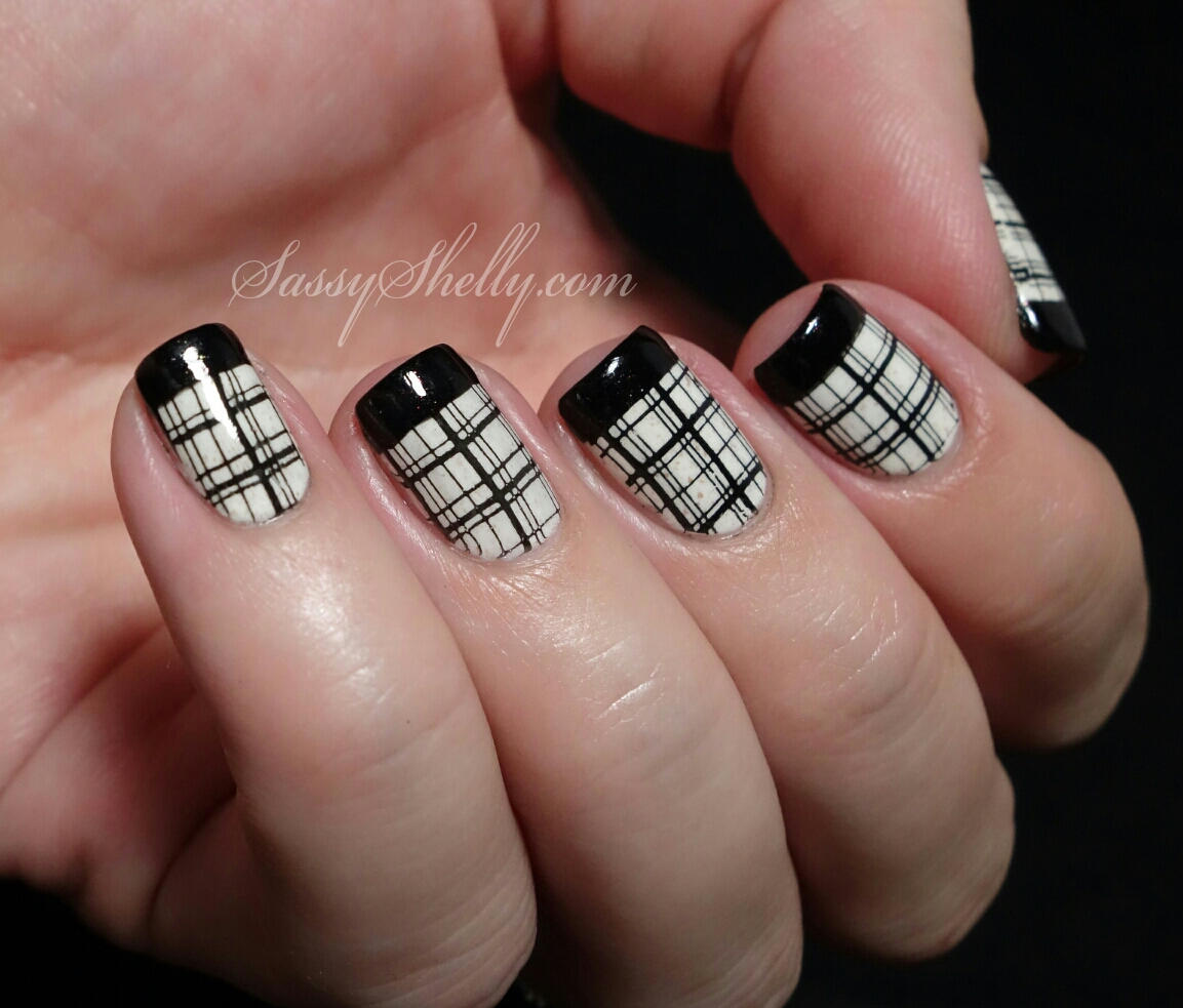 Digit-al Dozen DOES Black & White ~ Day 3: French Tips & Plaid ...