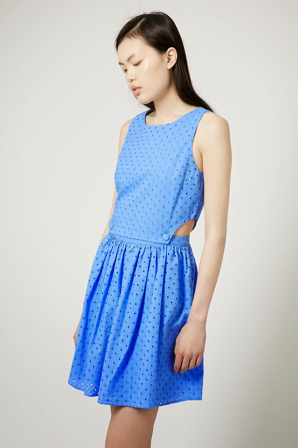 blue sundress topshop