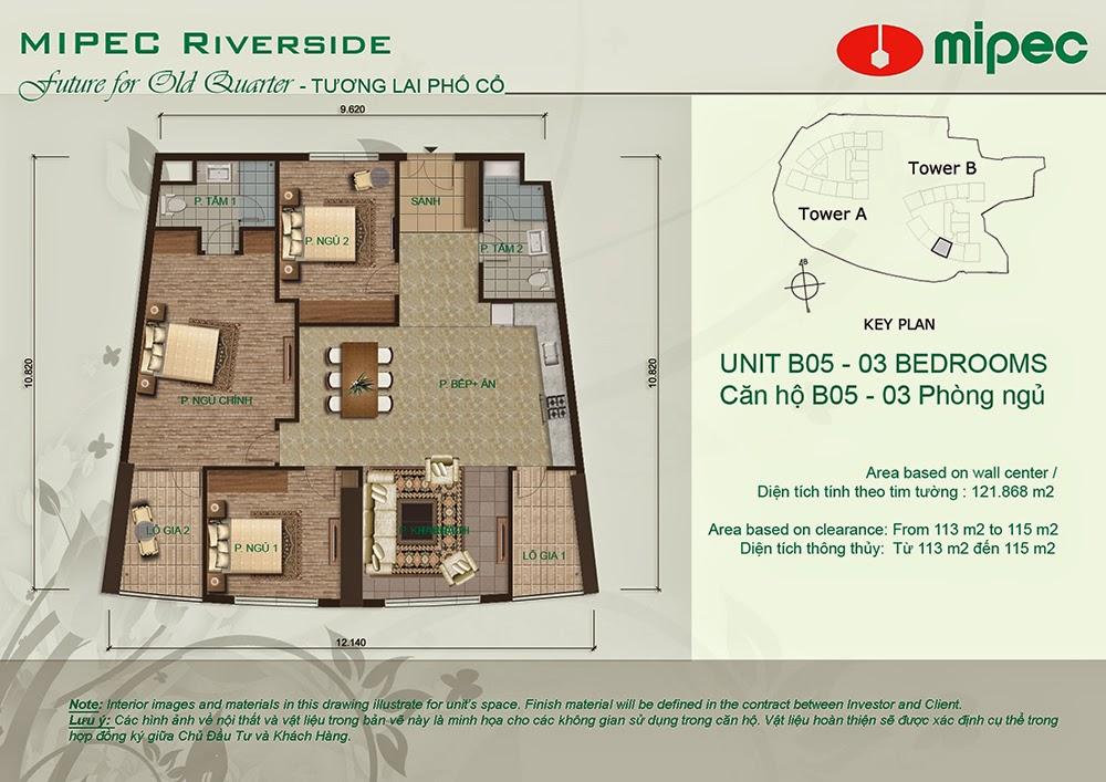 Căn B05 cư xá Mipec Riverside