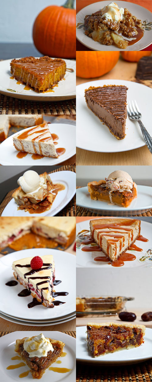 Thanksgiving Desserts Collage