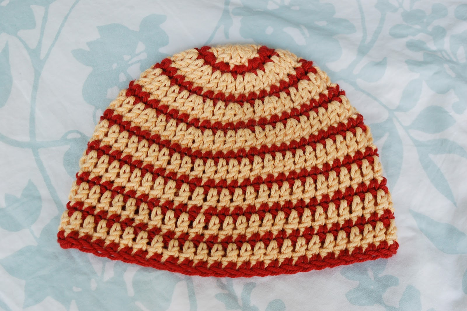 Alli Crafts: Free Pattern: Thick and Thin Striped Beanie - 6 Months