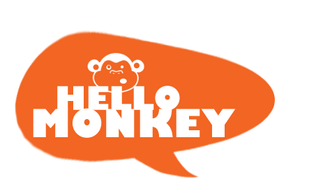 Hello Monkey - beautiful printed things