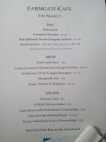 Farmgate Cafe Menu