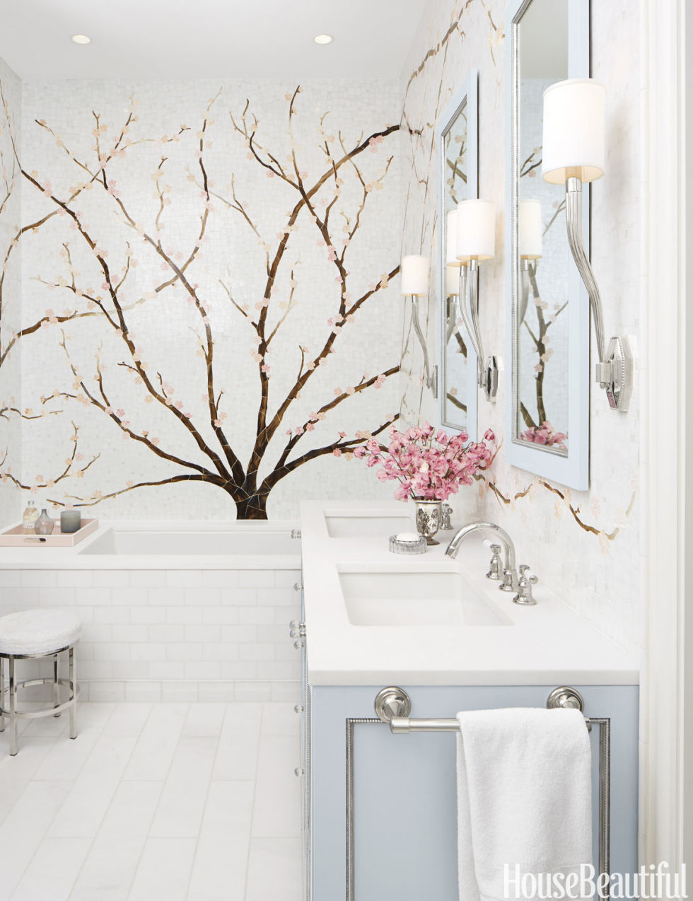 view from my heels: Cherry Blossom Bathroom