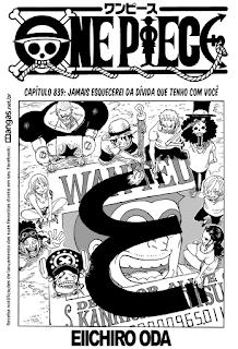 One Piece 839 Mangá Português leitura online