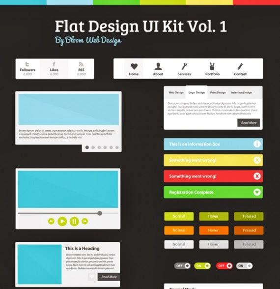 Flat Design UI Kit Vol. 1