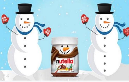 Nutella Snowman Jar Giveaway