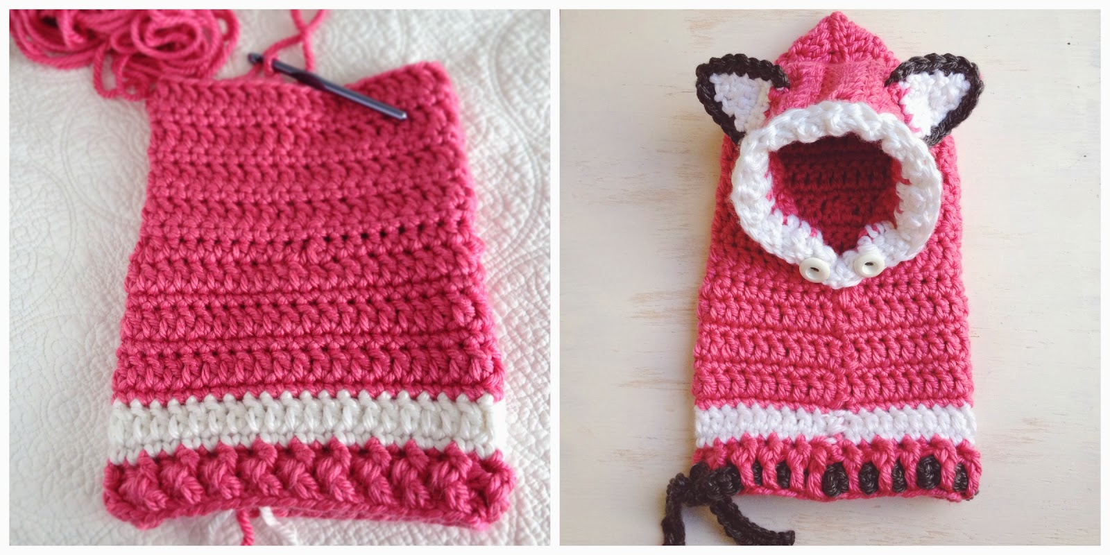 Crochet Fox Hooded Cowl Pattern : Crochet Fox Hood Pattern Free images