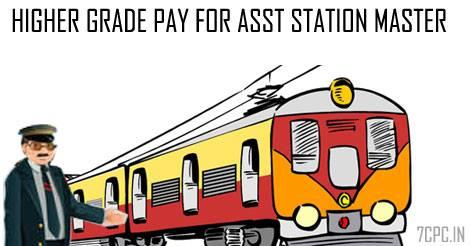 7th Pay Commission has recommended higher grade pay for Asst Station Master