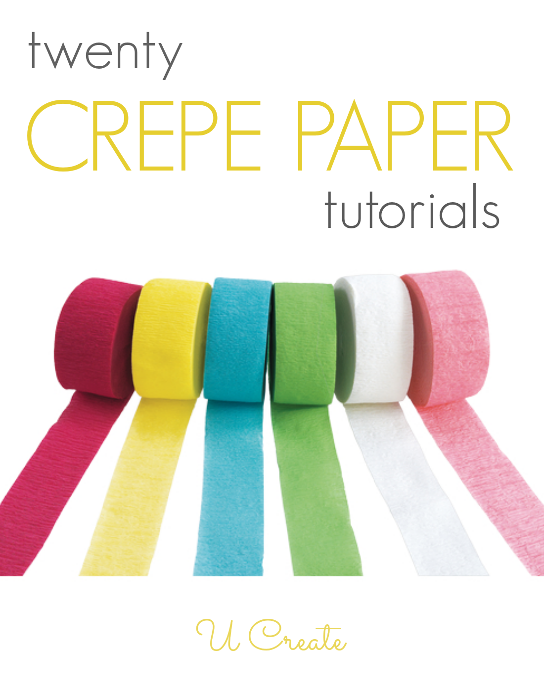 Many tutorials using inexpensive crepe paper! It's not just for decorating at parties anymore!