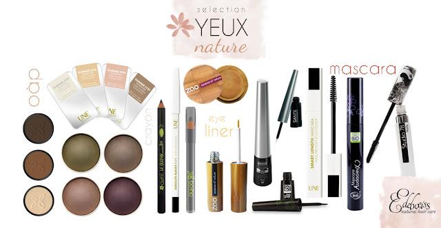 produits naturels pour le maquillage des yeux
