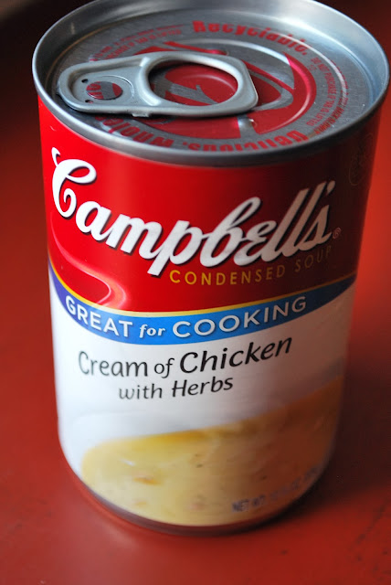 Campbell's cream of chicken soup with herbs