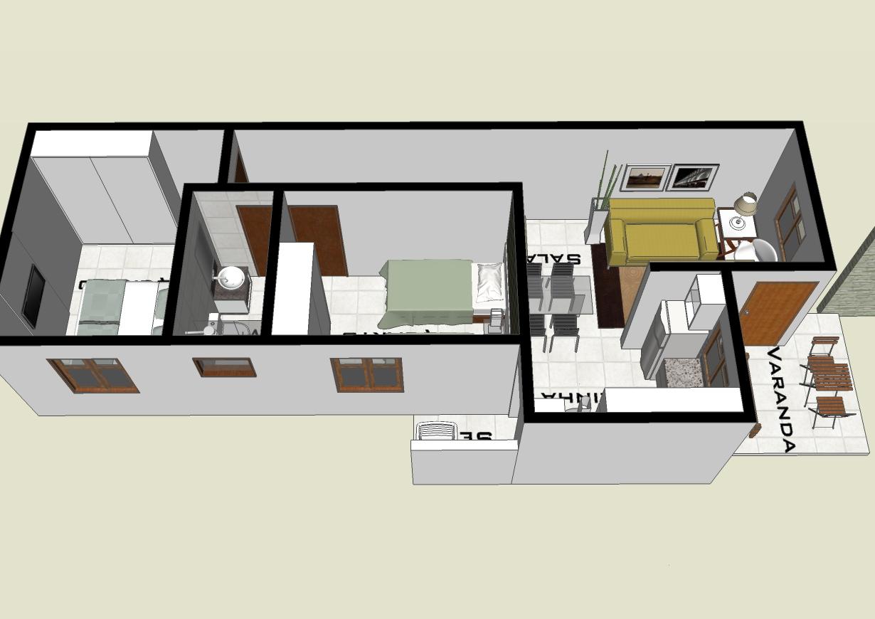 Modelos casas 2 quartos plantas e projetos de casas for Plantas de casas tipo 3
