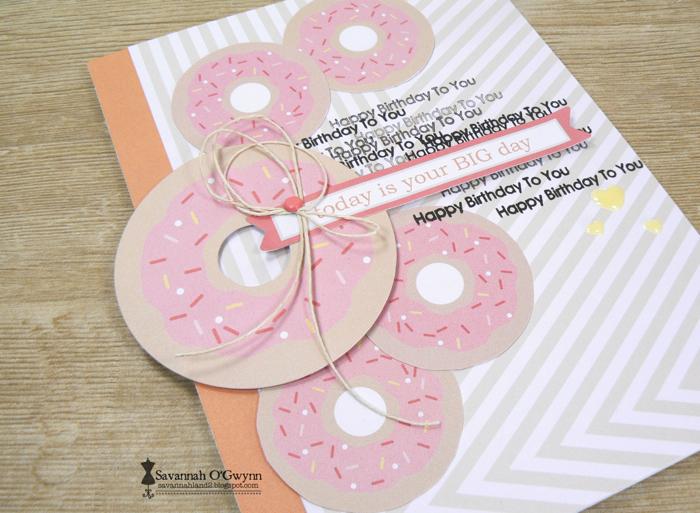 Savannah O'Gwynn Chickaniddy Crafts Donut Card